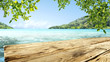 Leinwanddruck Bild - desk of free space and sea landscape