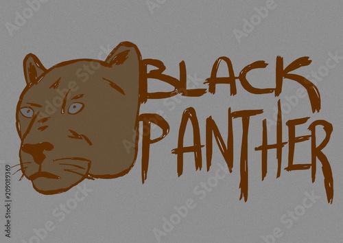 Fototapeta Black panther vintage