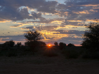 Sunset over Central Namibia.