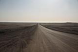 szeroka droga biegnąca przez pustkowie ginąca daleko na rozmywającym się horyzoncie - 209095101