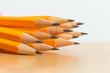 Leinwanddruck Bild - Pile of pencils