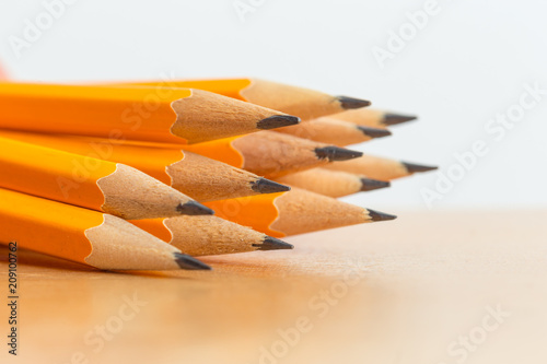 Leinwanddruck Bild Pile of pencils