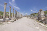 Columned west street in Perge Ancient City in Antalya Turkey - 209101916