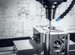 3D-Illustration CNC-Fräse Metalverarbeitung
