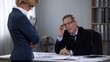 Sexual harassment in office between business partners, discrimination at work