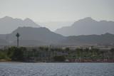The haze of the Sinai Mountains