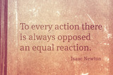 opposite reaction Newton