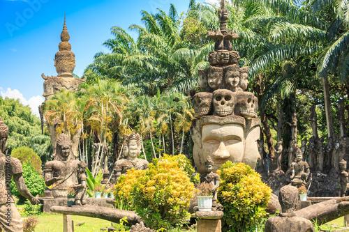 Aluminium Boeddha Buddha Park. Vientiane. Laos.