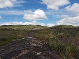 por trás da cachoeira de MIlho Verde da região do Serro / Diamantina / Minas Gerais