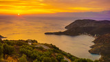 Greek coast at sunrise Peloponnese Mani - 209128997