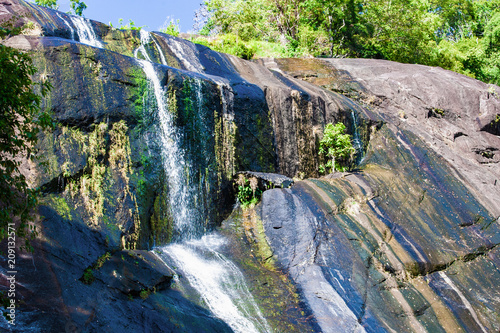 Waterfall in rocky mountain on island Langkawi - 209132571