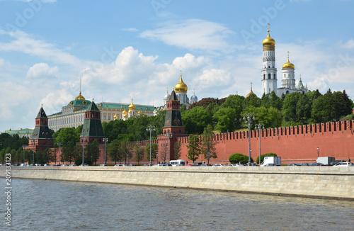Fridge magnet Architectural ensemble of the Moscow Kremlin and Kremlin embankm