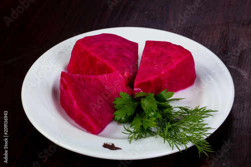 Pickled red cabbage
