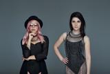 Two confident stylish girls portrait posing - 209139518