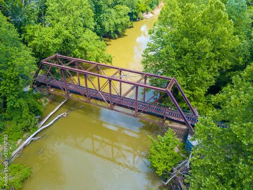 Fotobehang Bruggen Railroad bridge