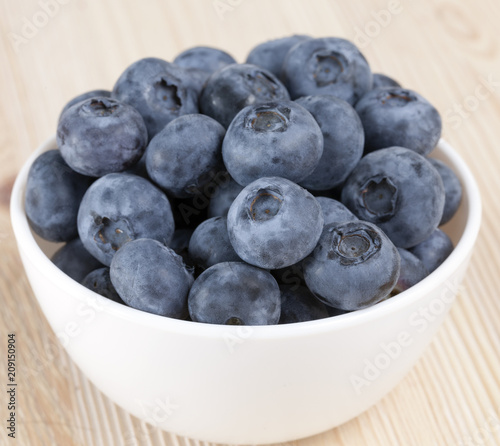 fresh and large blueberries