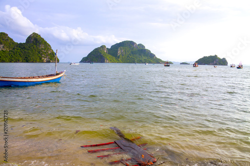 Fotobehang Thailand Beach Bang Boet clear sky and small island