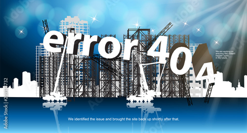 error 404 banner for the web site