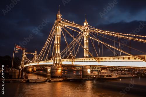 Fotobehang Bruggen Albert Bridge, London