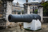 HABANA, CUBA-JANUARY 13: Old gun on January 13, 2018 in Habana, Cuba. Gun in Habana fortress