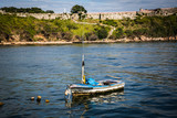 HABANA, CUBA-JANUARY 12: Fishing boat on January 12, 2018 in Habana, Cuba. Old boat in Habana