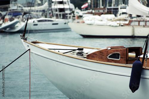 Fototapeta Bateau yacht classique port