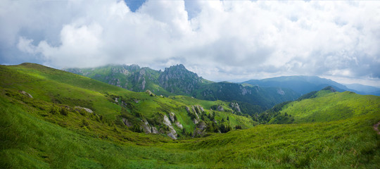 Panoramic view of Mount Ciucas on summer © PixAchi