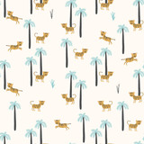 Simple vector pattern with tigers