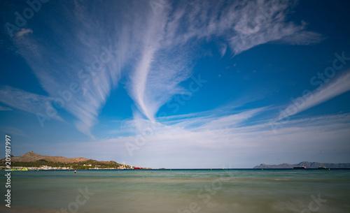 Foto Murales Panorama of the peaceful lake