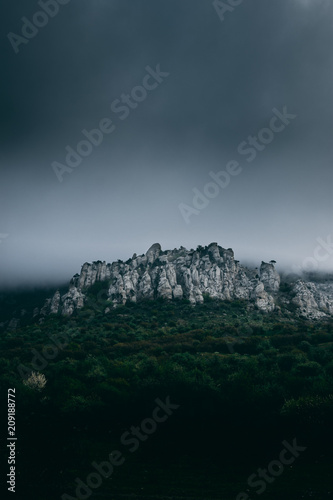 Fotobehang Zwart Crimean mountains