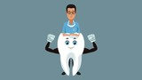 Dentist with strong tooth cartoon High Definition coloful animation scenes - 209189515