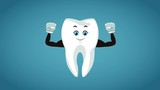 Strong arms tooth cartoon High Definition coloful animation scenes - 209189561