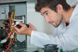 computer engineer solving problem - 209189799