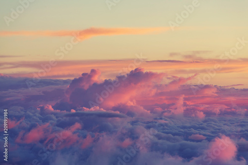 Fotobehang Galyna A. Above clouds
