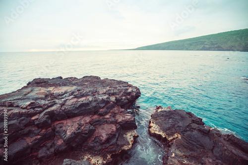 Fotobehang Galyna A. Beach on Big Island