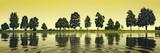 trees at the lake - 209195757