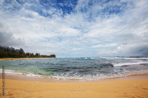 Fotobehang Galyna A. Hawaiian beach