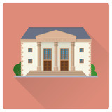 Museum building flat design vector illustration - 209198729