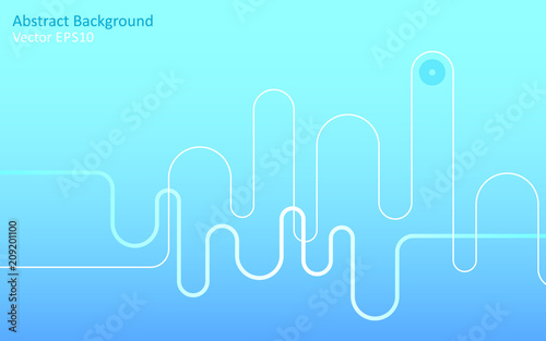 Canvas Abstractie Art Light blue abstract vector background