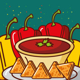 bell pepper and sauce nachos mexican food vector illustration - 209202311