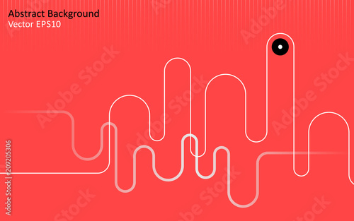 Canvas Abstractie Art Red abstract vector background