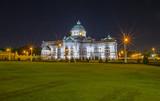 Ananta Samakhom Throne Hall at night Located in Bangkok, Thailand