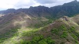 Aerial view of inland of Nuku Hiva island - South Pacific Ocean, Marquesas Islands, landscape of French Polynesia from above, 4k - 209211382