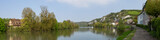 Panoramic vview of the river at Les Andelys in Normandy - 209211751