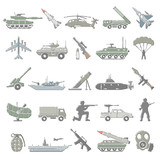 Outline Color Icons - Military - 209212199