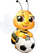 Beautiful cute bee - 209215343