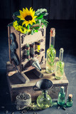 Extraordinary virgin oil machine with seeds and sunflower - 209216909