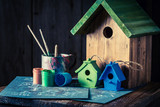 Home for birds and blue plan to build it - 209217510