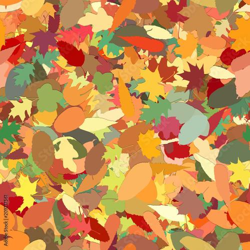 Nahtloser Hintergrund aus Blättern im Herbst