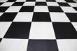 carrelage sol à damiers noir et blanc - 209219129